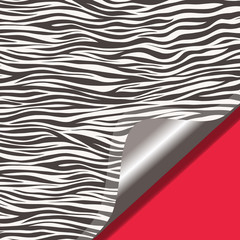Zebra texture and red background