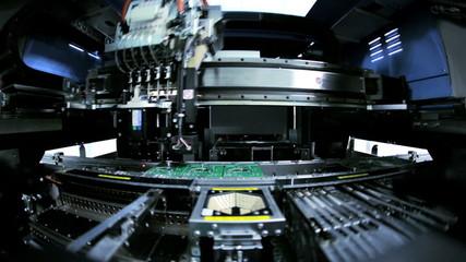 Automated machine producing PCBs, Mainland China