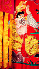 Khon Kaen, Thailand, Southeast Asia, Chinese Temple,  Tapestry Silk Art Work.