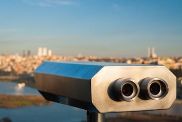Binoculars for scenic view in Istanbul