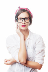 Girl with eyeglasses