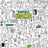 doodle home buildings, appliances, tools, object