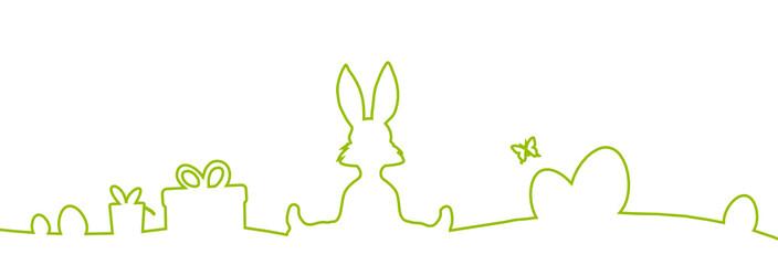 Ostern Hase und Eier