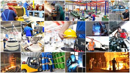 Berufe in der Industrie // Collage Industry jobs