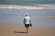 Retired man on the beach