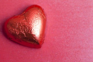 Heart Shaped Chocolate in red foil