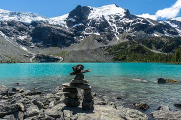 Canada, British Columbia, Inuksuk at Joffre Lakes Provincial Park
