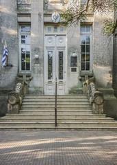 Elegant Old Style School Facade