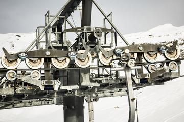 Detail of the ski lift