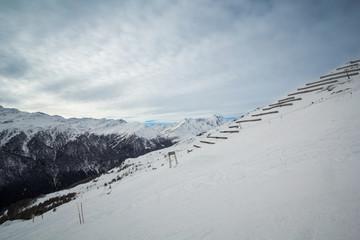 Slopes of Shareck, Grossglockner-Heiligenblut ski resort in Alps