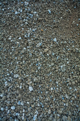 messy construction gravel texture
