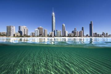 Australia, Gold Coast, Surfers Paradise, City skyline