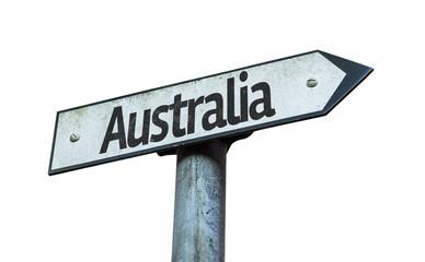 Australia sign isolated on white background