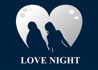 innamorati al chiaro di luna