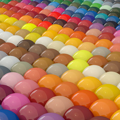 Balls-colors under catalogue RAL