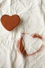 Chocolate Cream and Peanut Butter Heart Shaped Tart