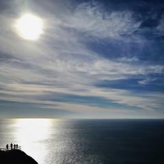 USA, California, Marin County, Muir Beach, View of Pacific Ocean