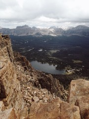 USA, Utah, Elevated view of Mirror Lake