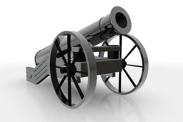 Kanon - vrijstaand tegen witte achtergrond