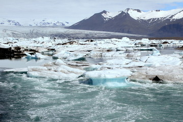 Iceland, Vatnajokull, Icebergs