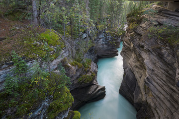 Canada, Alberta, River running through gorge