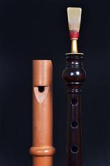 Dulzaina y flabiol instrumentos musicles tradicionales