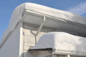 Thick snow on the roof