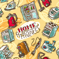 seamless pattern home appliances
