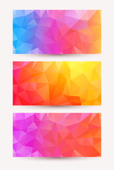 Three shiny bright abstract banners.