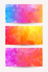 Three shiny bright abstract banners.