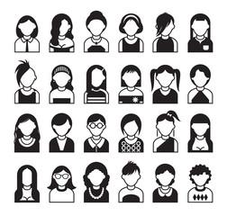 twenty four set of style women icon
