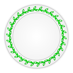 Plate with a pattern. Vector.