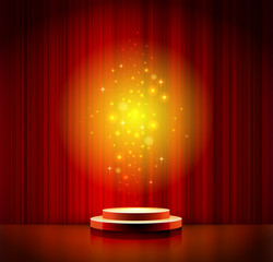 red spotlight effect scene background