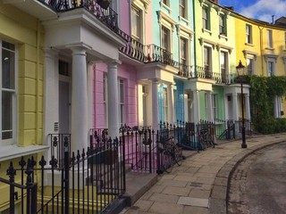 UK, England, London, Colorful houses in Primrose Hill