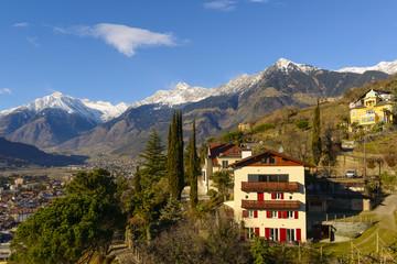 Town in the Italian Alps