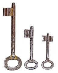 Antique iron door keys