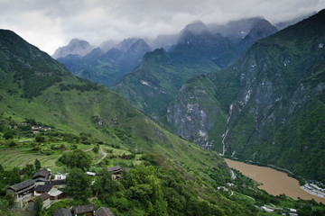 China, Landscape with Tiger Leaping Gorge