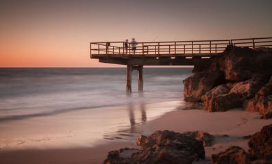 Australia, Perth,  North Beach, Long exposure of jetty at dusk