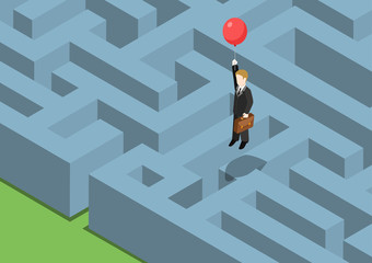 Risk management concept flat 3d web isometric
