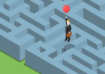 Risk management concept flat 3d web isometric