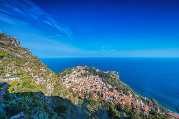 Italy, Sicily, View of seascape