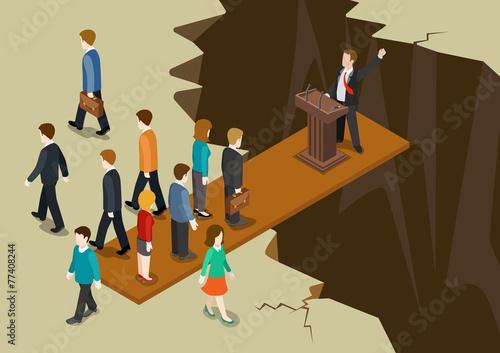 Democracy politics system imbalance concept flat 3d isometric - 77408244