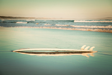 Australia, Surfboard on beach