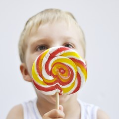 Boy with lollypop