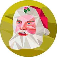 Santa Claus Father Christmas Low Polygon
