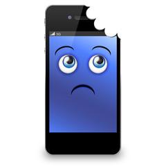 Smartphone morsicato in alto