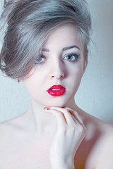 Young woman portrait.  filtered