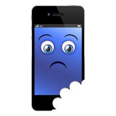 Smartphone morsicato in basso