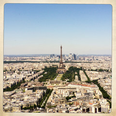 France, Paris, View of Eiffel Tower