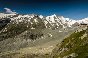 Grossglockner and Pasterze glacier , Austria